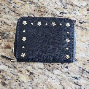 Coach Bags - EUC Coach Small Studded Zip Around Wallet